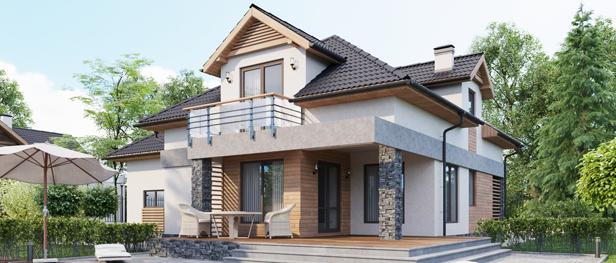 Современный дом, качественный комфортный и красивый современный дом