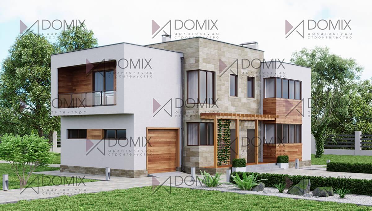 Проект дома в современном стиле XT-198, 200 метров, 7.8 млн.