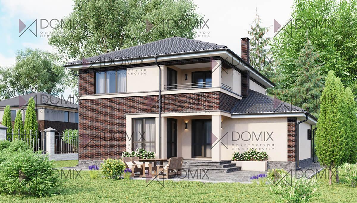 Проект двухэтажного дома DX-158, 158 метров, 5.2 млн.