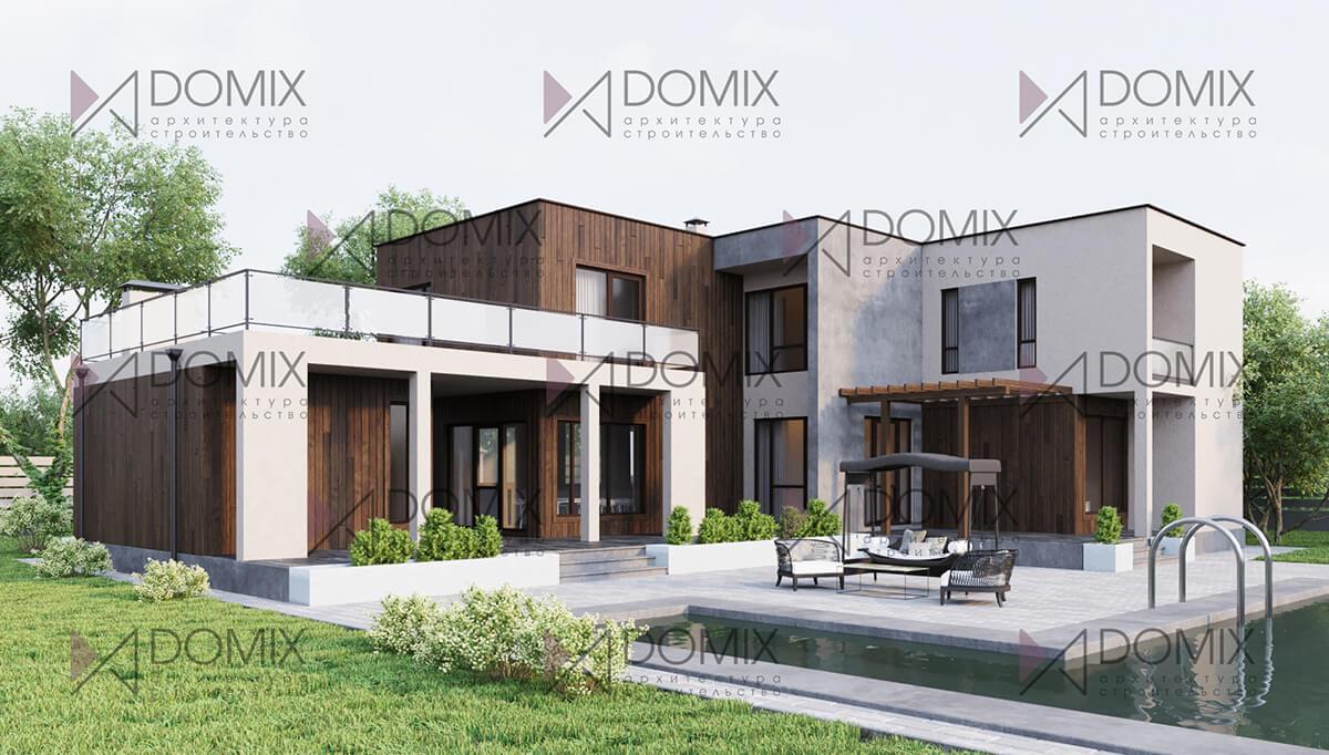 Проект дома в современном стиле XT-240, 240 метров, 10.4 млн.